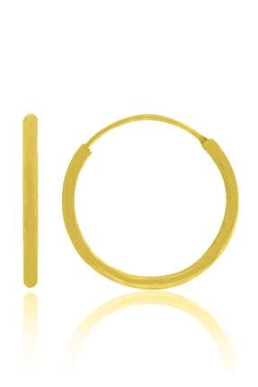 35mm Kadın Klasik Halka Gümüş Küpe 18 Ayar Altın Kaplama Özel Şans Küpesi Gold Mücevher 202030161