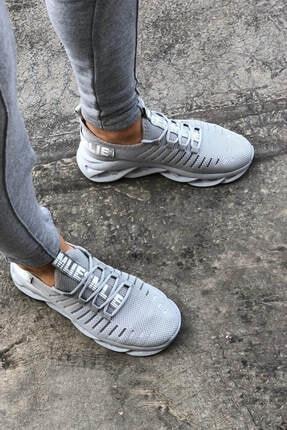 Erkek Spor Ayakkabı 18762-Oslo-Gri