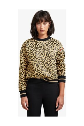 x Amy Winehouse Leopard Print Kadın Sweatshirt SG7116 Sarı 201FRPKSWT7116