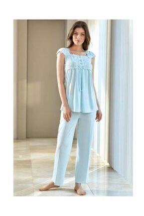 Hamile Lohusa Dantelli Lohusa Pijama Takımı 4520