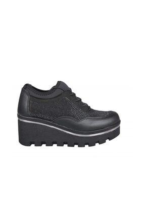 Crs05 Dolgu Topuk Siyah Kadın Sneakers crs05 Dolgu Topuk