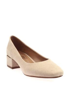 Ten Rengi Süet Kadın Topuklu Ayakkabı 601-1609