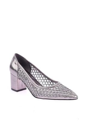 Platin Rengi Kadın Topuklu Ayakkabı 266-1510
