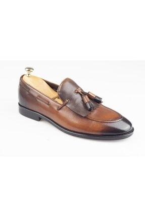 Hakiki Deri Loafer Taba - Kahverengi Erkek Ayakkabı BY00040