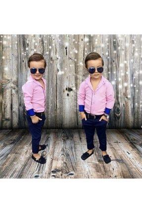 Pembe Gömleklı Erkek Çocuk Takım SRV02