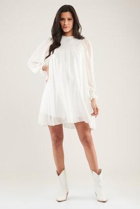 Hamile Graciela Elbise - Beyaz M2430