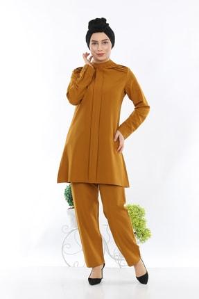 2024 Tunik Pantolon Ikili Takim - Hardal 03720YBTKM01038