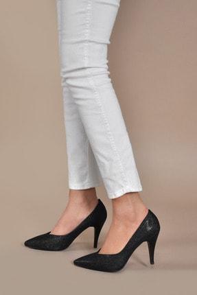 Kadın  Siyah-sim Klasik Topuklu Ayakkabı Vzn20-003y 153203_Siyah-Sim