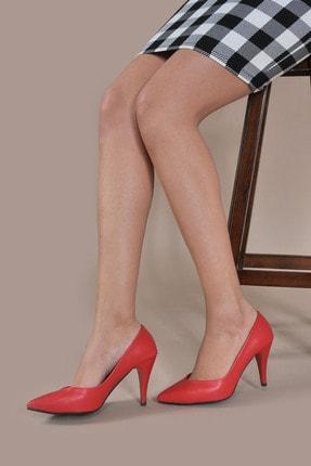 Kadın  Kırmızı-Cilt Klasik Topuklu Ayakkabı VZN20-002Y 153150_Kırmızı-Cilt