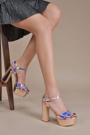 Kadın  Bakır Klasik Topuklu Ayakkabı VZN20-044Y 154091_Bakır
