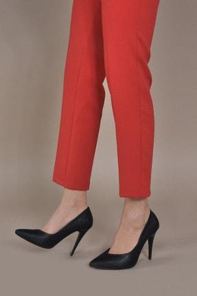 Kadın  Siyah-Baskı Klasik Topuklu Ayakkabı VZN20-004Y 153289_Siyah-Baskı