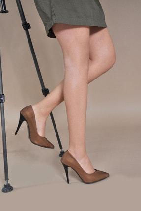Kadın  Bronz-Baskı Klasik Topuklu Ayakkabı VZN20-001Y 153041_Bronz-Baskı