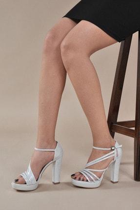 Kadın  Gümüş-Slt Klasik Topuklu Ayakkabı VZN20-035Y 153752_Gümüş-Slt