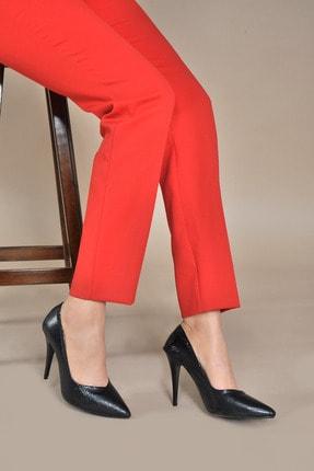 Kadın  Siyah-Petek Klasik Topuklu Ayakkabı VZN20-001Y 153041_Siyah-Petek