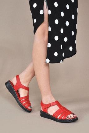 Kadın Kırmızı Sandalet Vzn20-080y 154750_Kırmızı