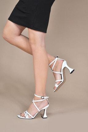 Kadın Beyaz-cilt Klasik Topuklu Ayakkabı Vzn20-082y 154781_Beyaz-Cilt
