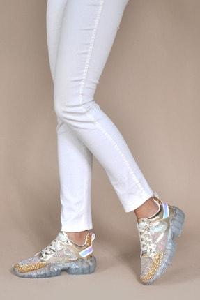 Kadın Altın Sneaker 155635_Altın