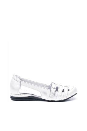 Hakiki Deri Beyaz Kadın Sandalet BUL-181613