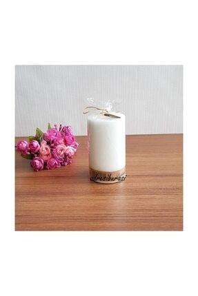 Kütük Mum Beyaz-12 X 7 cm 00152_M47