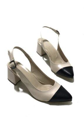 Pudra - Siyah Günlük Kullanım Için Kadın Topuklu Ayakkabı 90