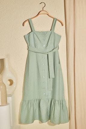 Haki Kuşaklı Elbise TWOSS20EL2879