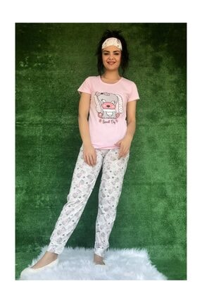 Baskılı Pijama Takımı 2566 Pijama Takımı Desenli M20200422133619