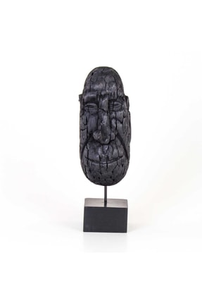 Dekoratif Ahşap Mask Biblo 16x14x48,5 Cm BZEFL16462