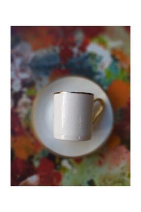 Beyaz Gold Porselen 6lı Kahve Fincan Takımı Seti 9544548572199