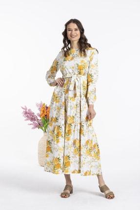 Sarı Çiçekli Elbise 46300
