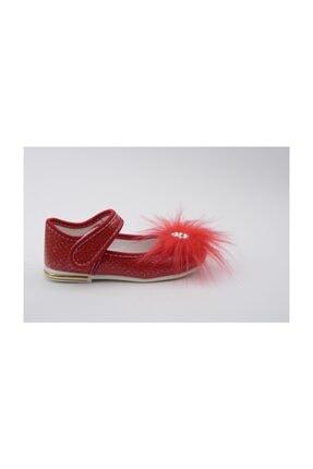 Kız Çocuk Babet Beyaz Ayakkabı 142008KIRMIZI