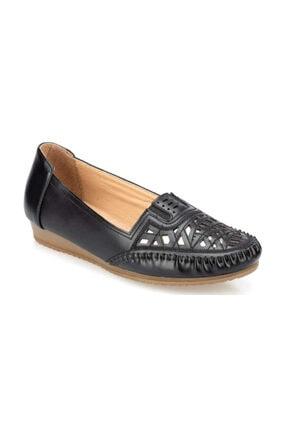 Siyah Renk Rahat Taban Kadın Loafer Babet Ayakkabı 91.158752.Z