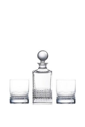 Diamond Viski Seti Şişe ve 2 Bardak ROG122594-