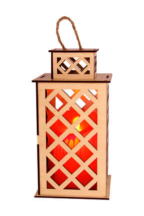 Ahşap Fener Mumluk Seti Dekoratif Fener 69943