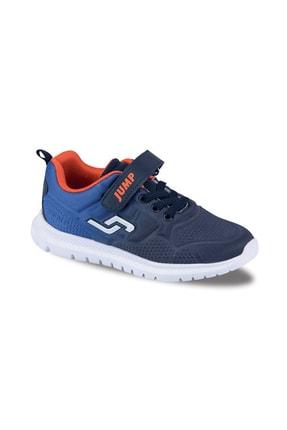 Erkek Çocuk Lacivert Turuncu Spor Ayakkabı 26-35 Numara 20008 J-20008L