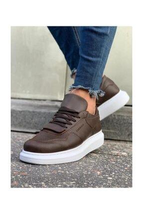 CH071 İpekyol Beyaz Taban Erkek Ayakkabı Kahve 13213123