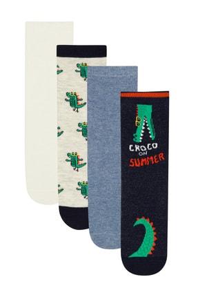 Çok Renkli Erkek Çocuk Croco 4LÜ  Soket Çorap PHEU2XGC20IY-MIX
