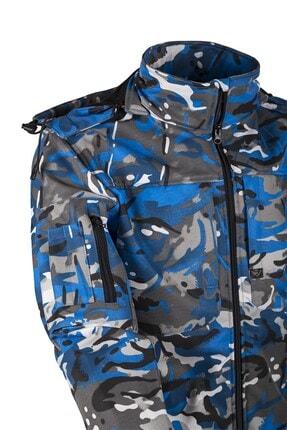 Yengeç Mavi Su, Rüzgar Geçirmez Poliamid 6.6 Softshell Mont (vav Shellht-01)mont SHELLHT-01_R25