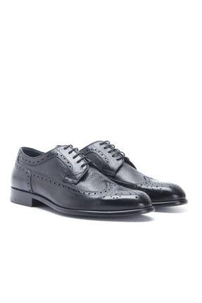Erkek Siyah Hakiki Deri Kösele Ayakkabı 163-03