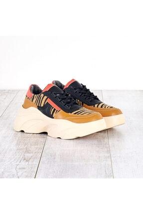 Cilt Taba-zebra Kadın Spor Ayakkabı 35001M1041-1