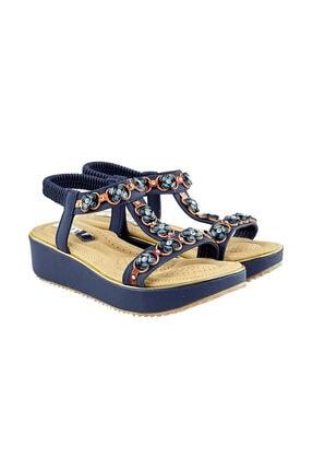 237-11 Lacivert Kadın Sandalet 2-237-11 LC