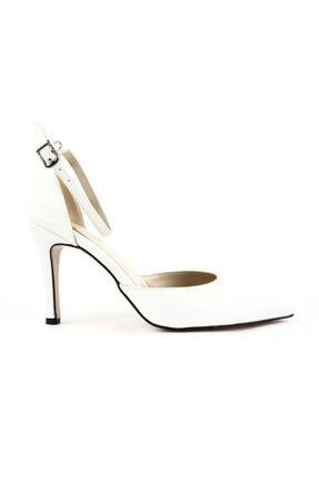 Beyaz Kadın Topuklu Ayakkabı 601-1339