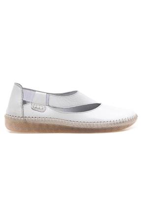 Kadın Deri Beyaz Günlük Ayakkabı BRC2024053-1