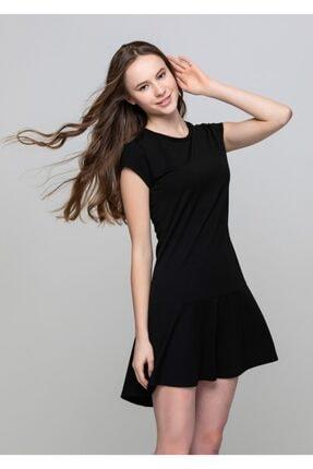 Frıll Dress Kadın Siyah Elbise L30003