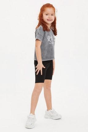Kız Çocuk Slim Fit Tayt J3485A6.20HS.BK27