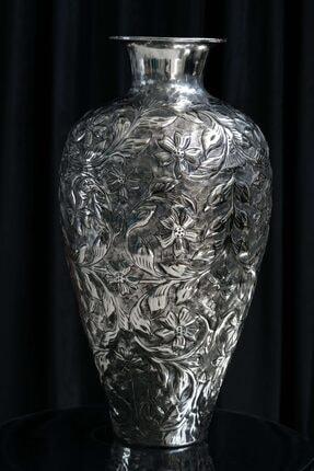 El Yapımı Çiçekli Vazo, El Kakması Vazo, Büyük Vazo 201900001457