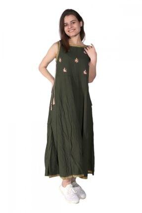 Kadın Zümrüt Otantik Elbise ELBS010