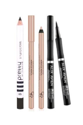 Eyeliner Pen Kalem Eyeliner + Golden Rose Göz Ve Dudak Aydınlatıcı Kalem + Flormar Siyah Göz Kalemi 0097