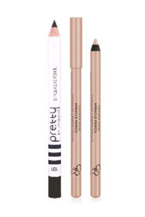Flormar Siyah Göz Kalemi + Göz Ve Dudak Aydınlatıcı Kalem Miracle Pencil 0096