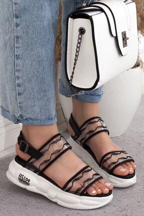 Kadın Dolgu Topuklu Sandalet A202YSTR0005