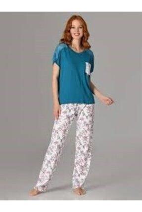 Kadın Omuz Dantelli Viskon Pijama Takımı 66671 PRA-1498440-602218